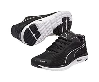 Image Unavailable. Image not available for. Color  PUMA Mens Faas 500 V4  PWRWARM Running Shoes Black-Silver ... 1350a6ea2