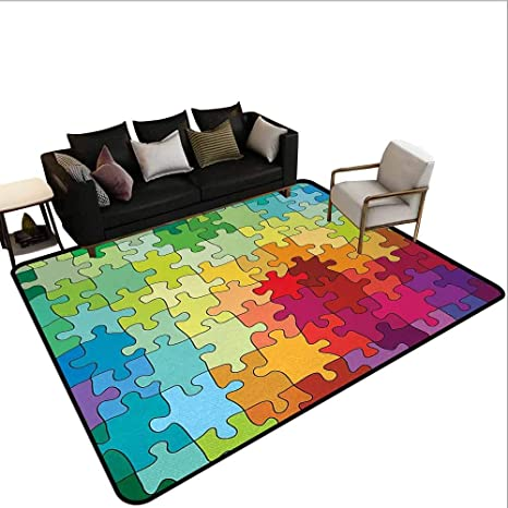 Amazon.com: AlEASYHOME Non-Slip Area Rug Carpet, Colorful ...