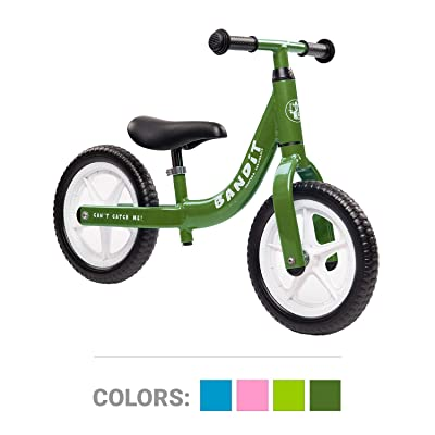 Bandit Bicycles Balance Kids Bike Never Flat Tires Super Light - Grows with Your Child - Easiest Assembly for Age 1-6 Years: Sports & Outdoors