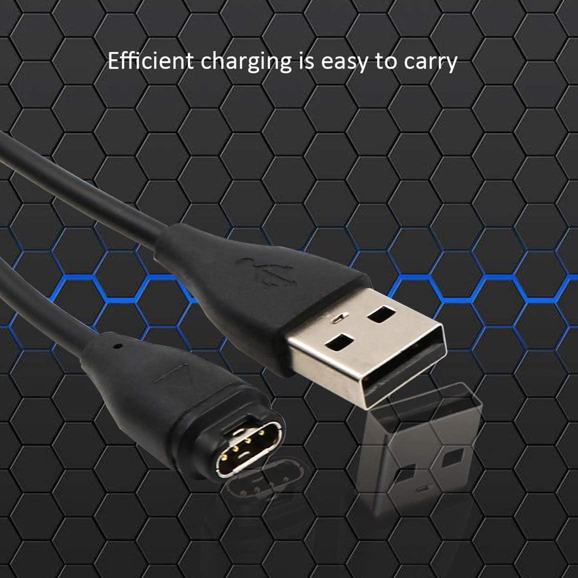 Noir 3.3ft Chargeur Rapide Charge C/âble Sync Donn/ées C/âble pour Garmin Fenix 5 5S 5X Fenix5 5S X Forerunne 935 Vivoactive 3 1m