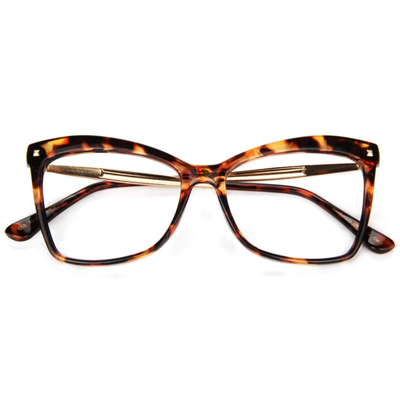 bebc7451d813 Amazon.com  Zeelool Large Butterfly Eyeglasses Frame for Women Isaebella  FP0044-01 Tortoise  Clothing