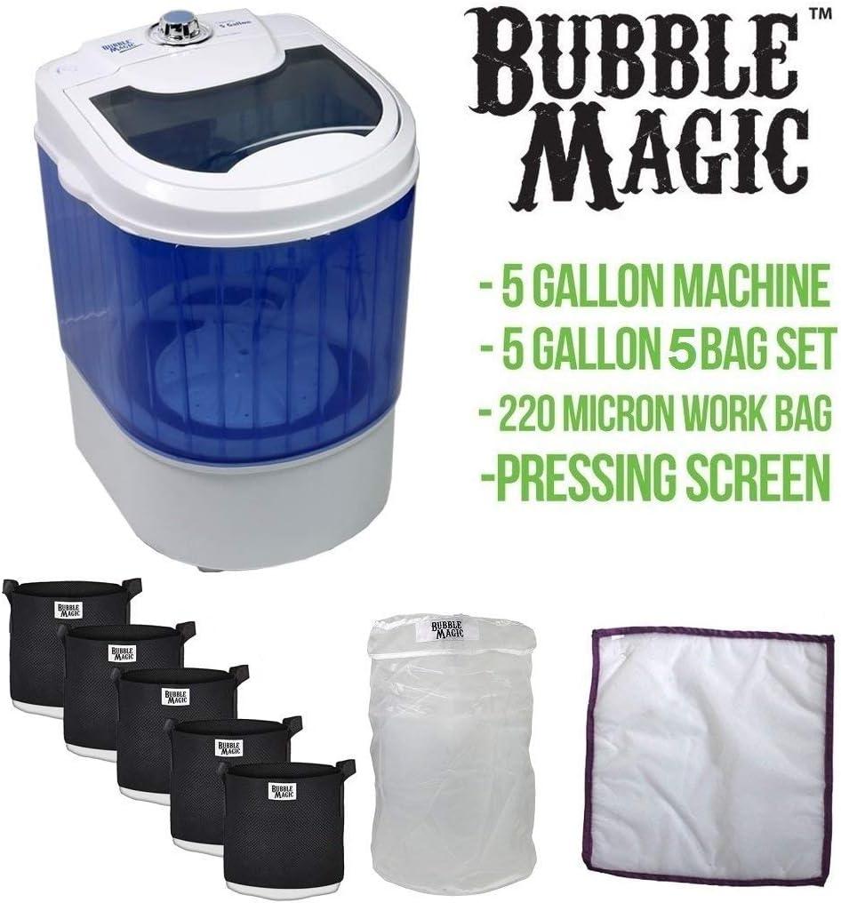 Medium Bubble Magic 130055 5 Gallon Washing Post Harvest Extraction Machine Blue