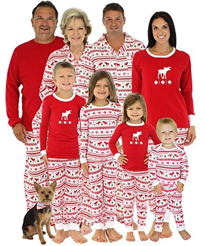 amazoncom reindeer stripe long sleeve sleepwear family matching christmas pajamas sets sports outdoors - Cheap Family Christmas Pajamas