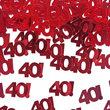 Streudeko Tischdeko 40 Geburtstag Jubilaum Rot 40 Geburtstags Party