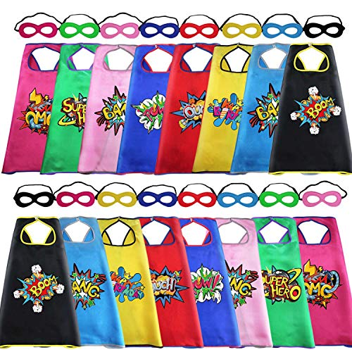 Super Girl Cape (D.Q.Z Superhero Capes and Masks for Kids Bulk with Super Hero Stickers for Boys Girls DIY Dress Up Party, 16)