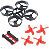 Crazepony 4pcs Propellers Red and Tiny Whoop Eachine E010 RC Quadcopter Frame