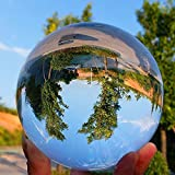 SunAngel Crystal 3 inch (80mm) Clear Crystal Ball Art Decor K9 Crystal Prop for Photography Decoration - No Stand