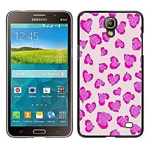 Caucho caso de Shell duro de la cubierta de accesorios de protección BY RAYDREAMMM - Samsung Galaxy Mega 2 - Leopardo rosado de la impresión del modelo de piel