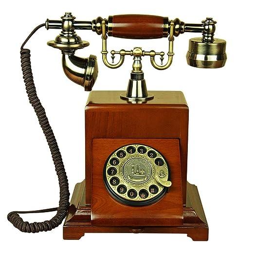 Nunca te rindas Tocadiscos Retro Europeo de Madera Maciza teléfono ...