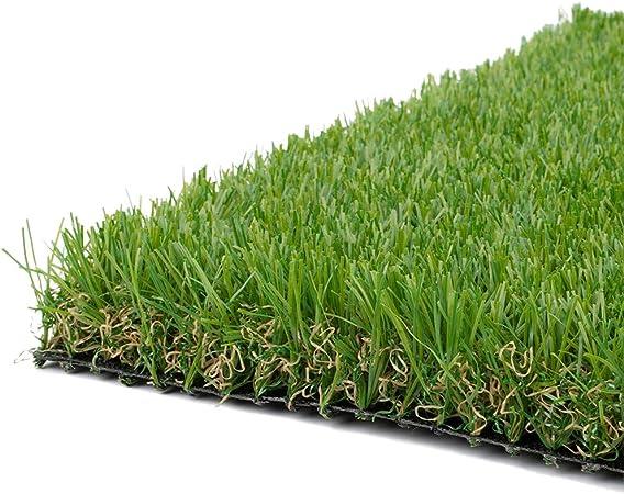 AQAWAS Cesped sintético Hierba Alfombra para el jardín, Sintética De Grosor 3 cm Césped Artificial, No Tóxico, Alta Densidad, para Jardín Y Terraza,Green_2x6m/6x18ft: Amazon.es: Hogar