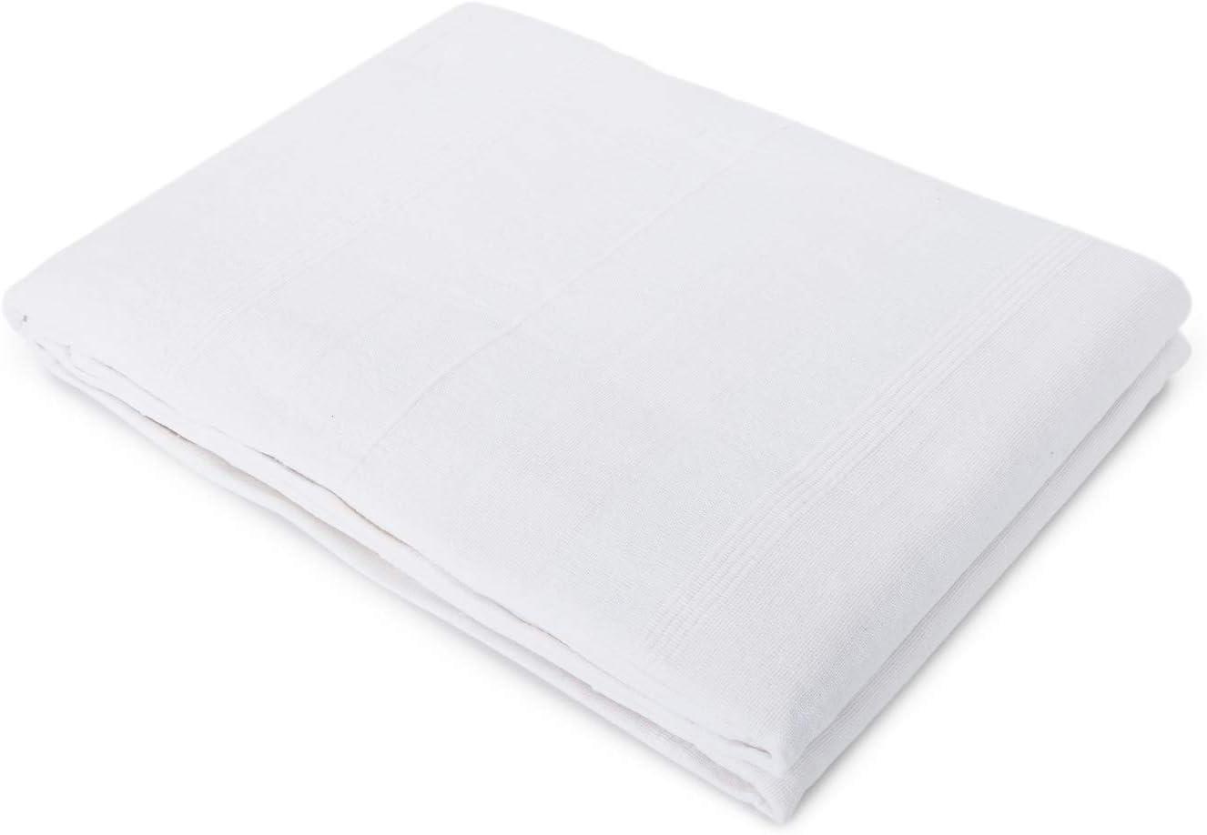 Blanco, 240x260 Montse Interiors Colcha Plaid Multifunci/ón para Sof/á o Cama Algod/ón 100/% Verdi