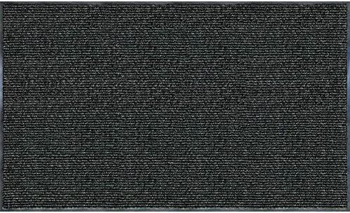 Trafficmaster Enviroback Charcoal 60 in. x 36 in. Recycled Rubber Thermoplastic Rib Door Mat 1, Charcoal