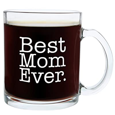 Christmas Gifts for Mom Best Mom Ever Funny Mom Gift Glass Coffee Mug Tea Cup