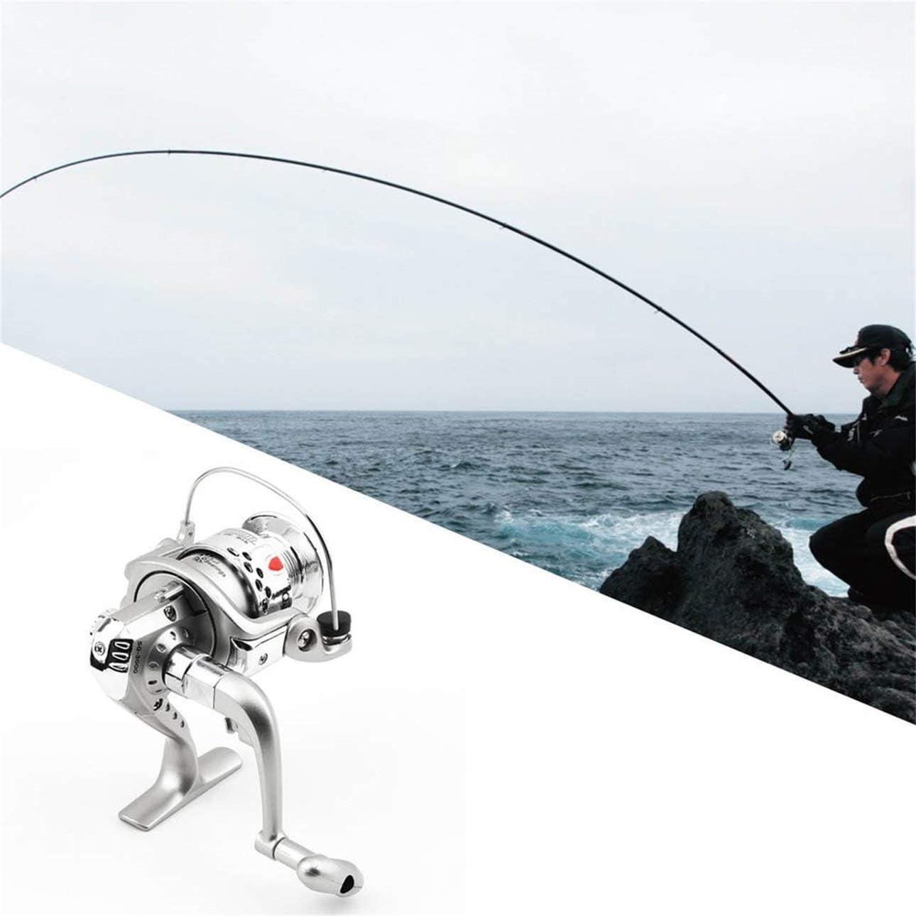 Greatangle 5.1 1 6BB Rodamientos de Bolas Pesca Carrete Giratorio Izquierda//Derecha SG-3000 ABS Carrete Barco de Pesca en Ocean Lake Flow 0