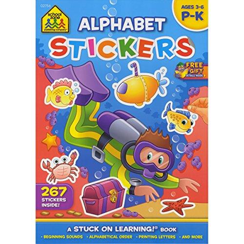 School Zone Sticker Workbook-Alphabet Fun Grades P-K