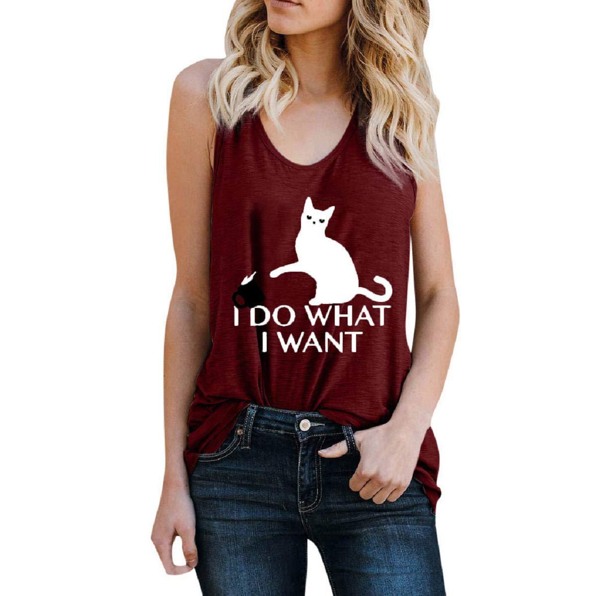 Amazon.com: Camiseta sin mangas para mujer, camiseta sin ...