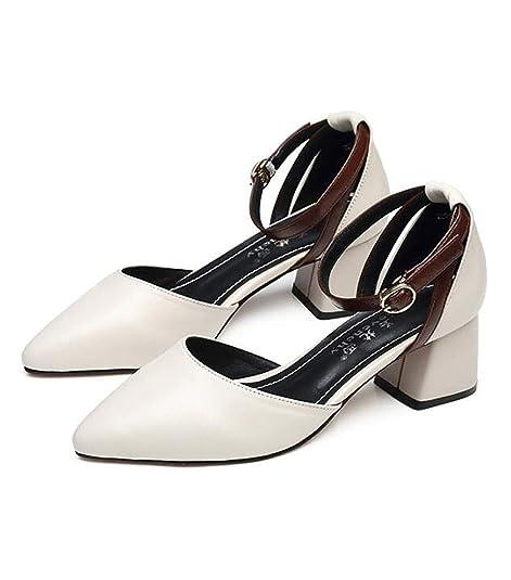 baratas para descuento aeceb 6e63f Zapatos de Mujer, Verano, Zapatos de tacón Medio, Zapatos ...
