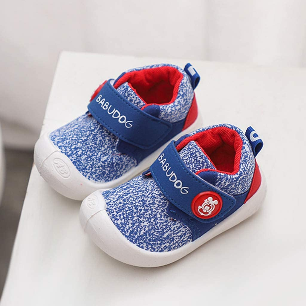 Chaussures de Marche Confortables en Coton Chaussures dext/érieur pour Landau Chaussures d/écontract/ées Unisexe 6 Mois /à 4,5 Ans Igemy Sneakers pour Tout-Petits