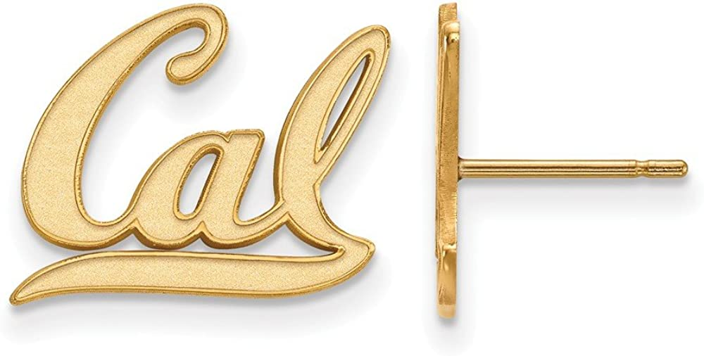 1//2 Inch Post Earrings Gold Plated Cal Small