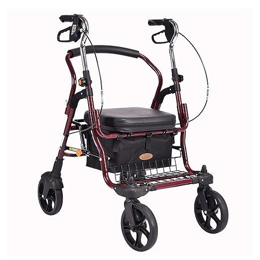 Trolley Old Man Carrito de compras portátil Andador plegable Silla ...