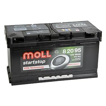 Moll Start Stop Efb 82095 12 V 95 Ah Batterie De Voiture Amazon Fr