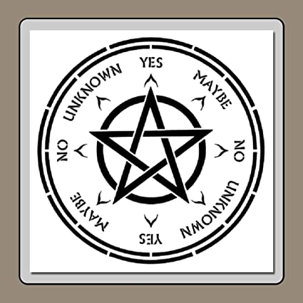 photograph regarding Printable Pendulum Board named 12 X 12 inch Pendulum Board Confront Stencil Template with Pentagram Star Heart Spirit/Divination/Supernatural