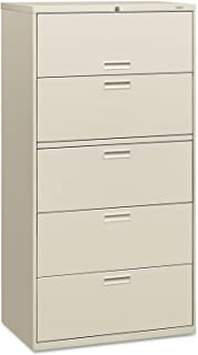 product image for HON 585LQ 500 Series Five-Drawer Lateral File, 36w x 19-1/4d x 67h, Light Gray