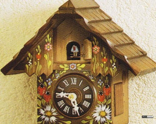 German Cuckoo Clock 1 Day Movement Chalet Style Inch
