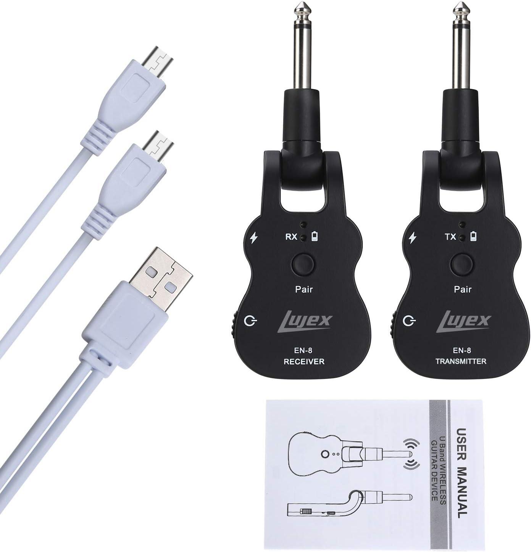 Syst/ème sans fil guitare Uhf guitare sans fil audio /émetteur r/écepteur noir 20Hz-20kHz pour guitare /électrique basse violon guitare /électrique Pi/èces