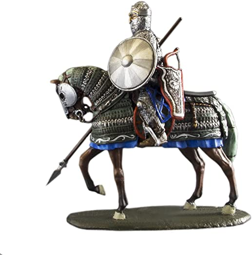 Ronin Miniatures Cavalry Knight Mounted Mongolian Rider Hand Painted Tin Metal 54mm Action Figures Toy Soldiers Size 1 32 Scale for Home D cor Accents Collectible Figurines Item 6015ML
