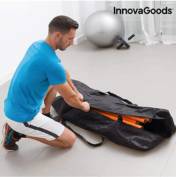 InnovaGoods IG811464 Estación de Dominadas y Fitness, Unisex Adulto, Negro, Talla Única