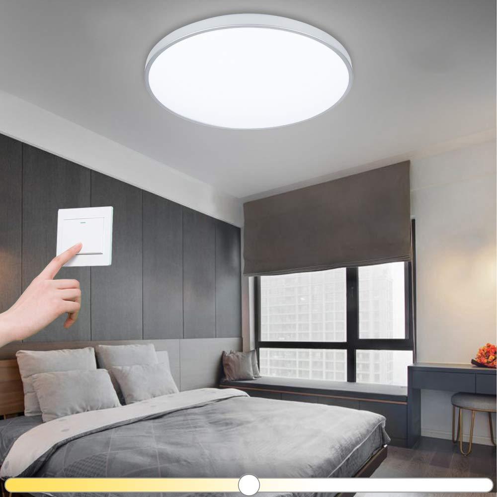 VINGO® 50W LED Deckenleuchte kaltweiß warmweiß neutralweiß 3 in 1 Farbwechsel Wohnzimmerlampe Schlafzimmerleuchte Badezimmerlampe spritzwassergeschützt