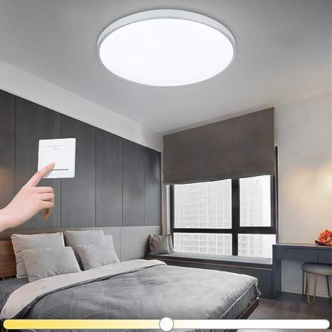 Vingo® 16 W – Lámpara de techo LED cambio de color baño de pared y techo interior lámpara de salón Leuchten lámpara de interior iluminación Ultraslim ...