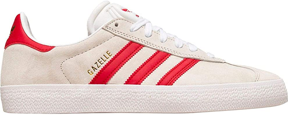 adidas Mens Gazelle Adv Lace Up Sneakers Shoes Casual - White