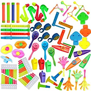 50+ Noise Making Party Favor/Prize Assortment! Great for Pinata Filler, Birthday Parties, Classroom Toys, Gifts, Handouts, And more!!!