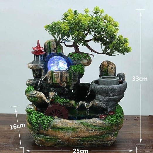 Fuentes De Mesa De Interior Resina Bonsai Fuente De Waterscape, F ...