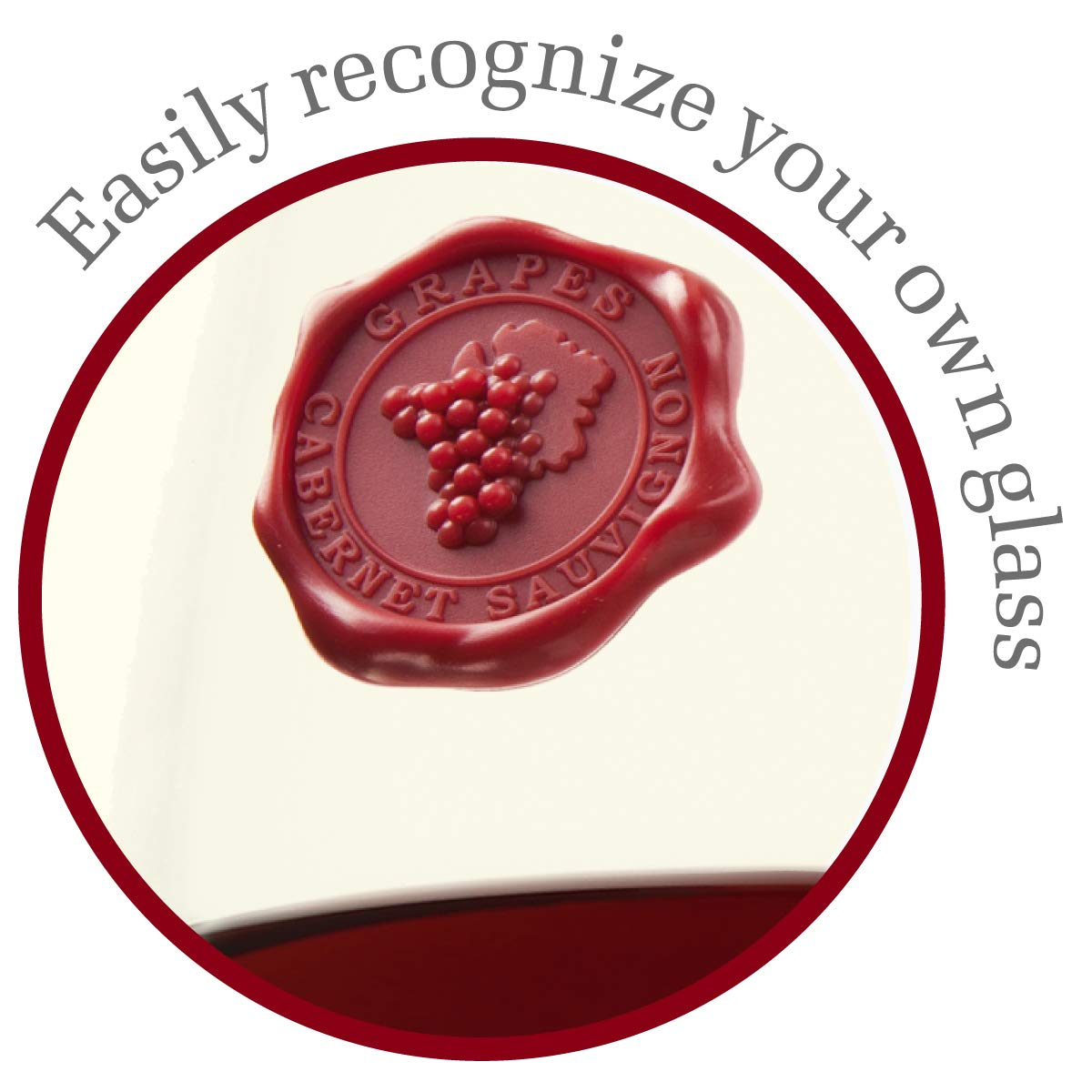 Vacu Vin  Classic Grape Glass Markers Set of 8