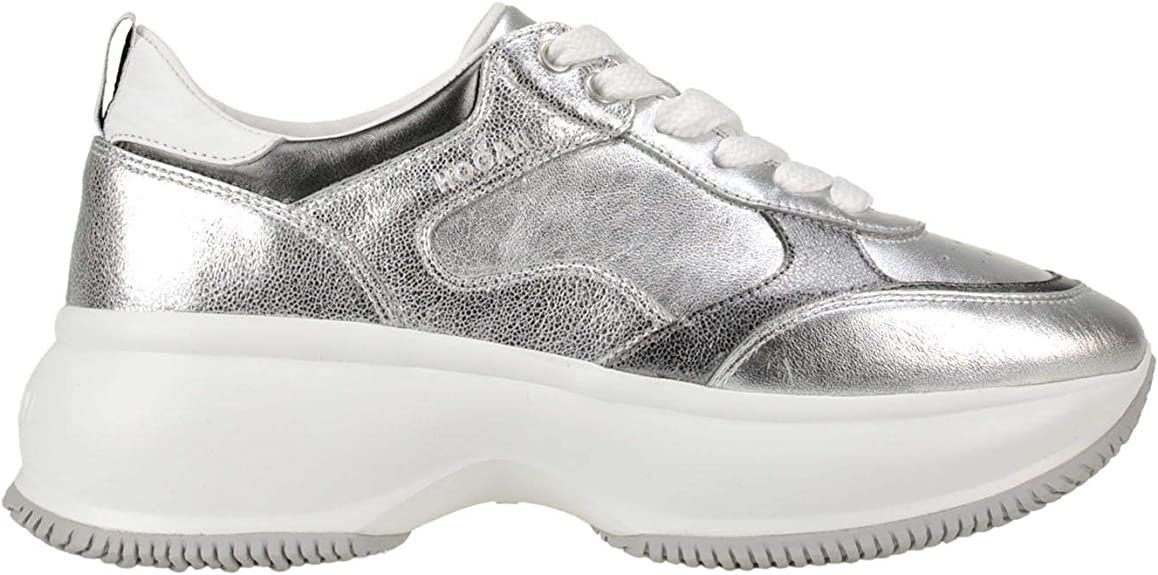 Luxury Fashion | Hogan Mujer MCGLCAK0000A7023E Plata Zapatillas | Temporada Outlet: Amazon.es: Zapatos y complementos