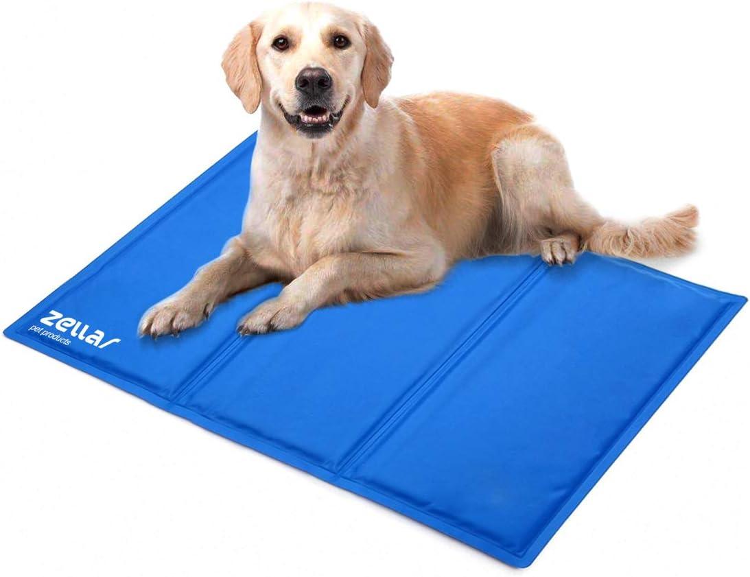 Zellar Alfombrilla de Refrigeración para Animales, Enfriamiento para Camas de Mascotas, No tóxico, Auto, para Perros y Gatos, Grande, 50 x 90 cm