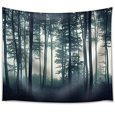 Dark Forest with Bushes on a Foggy Day, With Expert Quality, Magnificent Artisanship