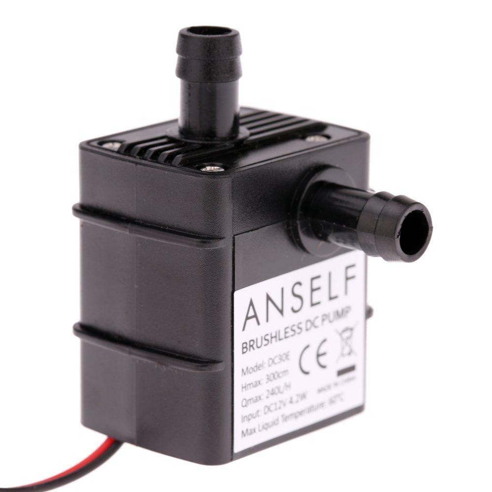 Ultra-silenzioso mini DC12V Micro Brushless acqua olio Pompa sommergibile 240L / H 4.8W Ascensore 3M Anself