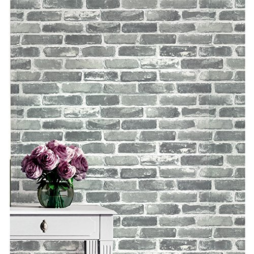 3D Wallpaper Bedroom Living Mural Roll Modern Faux Brick Stone Wall Background - 3