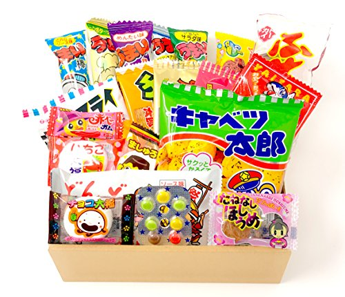 Japanese Candy Dagashi Box 20pcs Umaibo Snack Gumi potato Chip Kitty chocolate (20 pieces set)