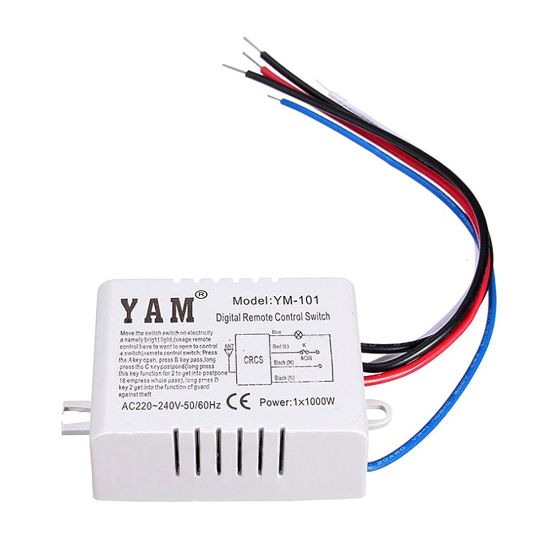61986scgpNL._SL1100_ lamp remote control switch yam ac 220v wireless light lamp yam ym 101 wiring diagram at n-0.co