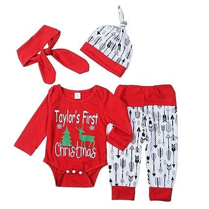 Augneveres Juego De Ropa De Navidad Para Bebe Diseno Navideno De 4