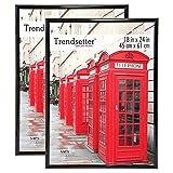 """MCS Trendsetter Poster Frame (2 Pack), 18""""x24"""", Black"""