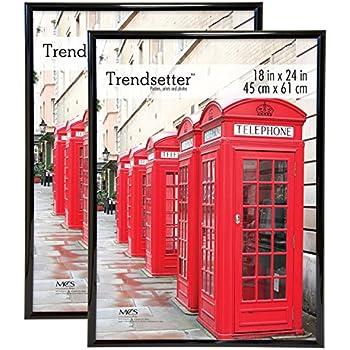 mcs trendsetter poster frame 2 pack 18 x 24 black