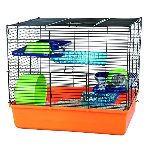 Trixie 6400 Hamster Cage 40 ラ 38 ラ 30 cm Orange / Blue / Green