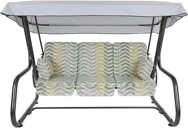 Auflagen Set für Hollywoodschaukel Sitzkissen Sitzpolster Rimini Venezia 180 cm