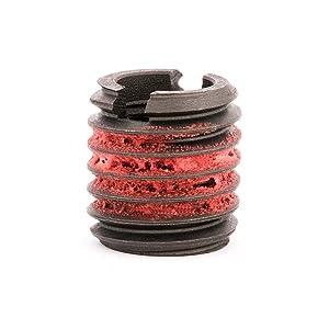 """E-Z LOK - 335-6 E-Z Lok Externally Threaded Insert, C12L14 Carbon Steel, Meets AISI 12L14, 3/8""""-16 Internal Threads, 5/8""""-11 External Threads, 0.656"""" Length, Made in US (Pack of 5)"""